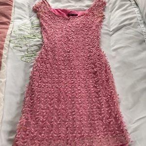 Betsey Johnson ribbon bow dress. Pink. Small